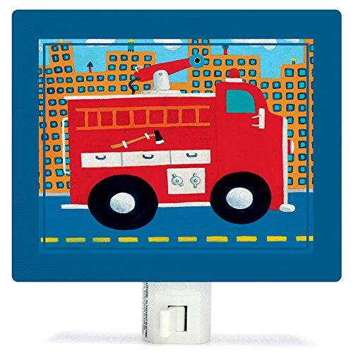 Oopsy Daisy PE3611 Fire Truck Night Light, Red