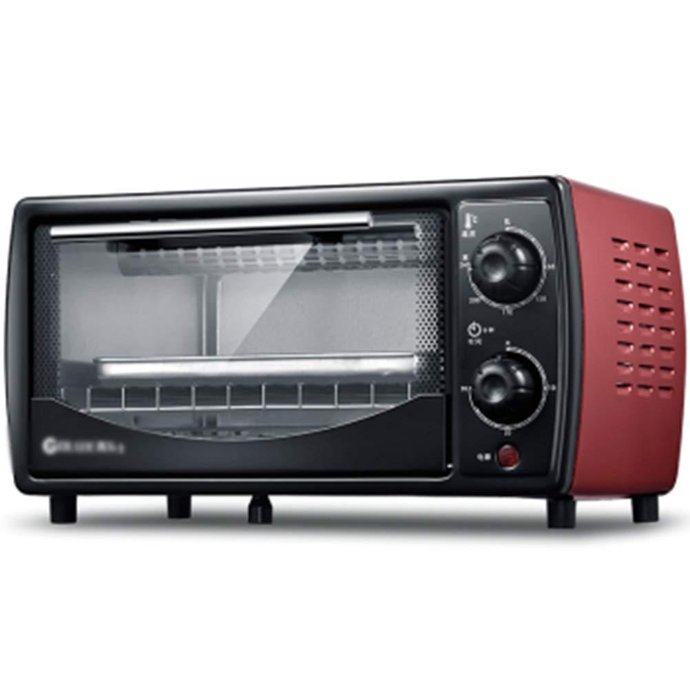 ZCYX オーブントースター12リットルホーム多機能ミニオーブンベーキングペストリー暖房食事ベーキング粘土 -7487 オーブン (色 : 赤) B07RWD6XPS 赤