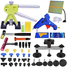 Fly5D 51pcs Car Body Dent Paintless Repair Kits, Pops a Dent Bridge Dent Puller PDR Tools with Hot Melt Glue Gun for Auto Truck Automobile Body Motorcycle Refrigerator Washing Machine