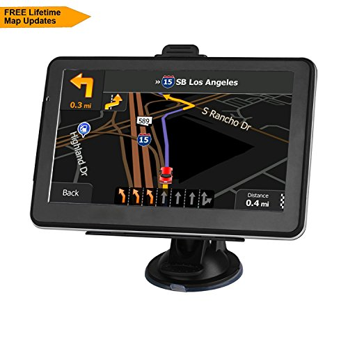 Car GPS Navgation LONGRUF 7-inch Touchscreen Built-in 8BG &256MB,GPS Navigation System Maps for Free Lifetime Updates by LONGRUF