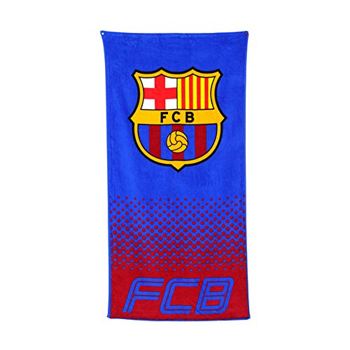 FC Barcelona Official Fade Football/Soccer Crest Beach Towel (One Size) (Blue/Red)