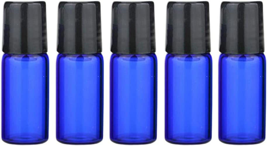 20pcs x 3ml colorido de cristal botellas de perfume Roller vacío cosméticos muestra punta de metal Container Botella viales fragancia aceite esencial rollo en botellas de cristal