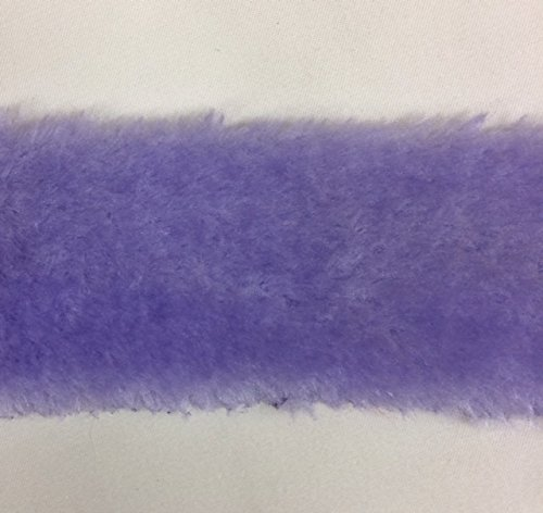 6 Inch FAUX FUR Trim Ribbon in LAVENDER Price Per 4 Yards by Top Trimming
