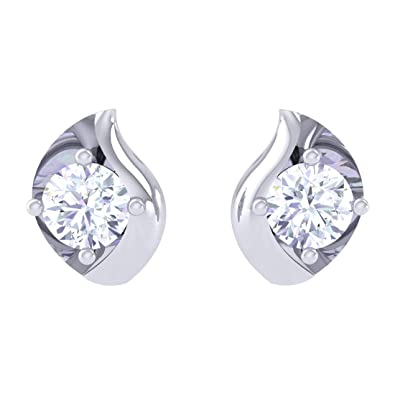 a4c6c4f60 Buy Clara Made with Swarovski Zirconia BIS Hallmarked 92.5 Sterling Silver  Platinum Plated Noa Solitaire Earring Gift For Women & Girls Online at Low  Prices ...