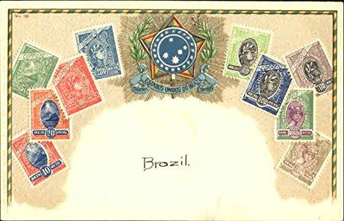 Brazil Stamp Postcards Brazil Original Vintage Postcard ()