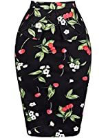 GRACE KARIN® Slim Vintage Pencil Skirts for Women Cotton Floral CL008928
