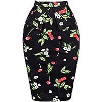 Grace Karin Slim clásico Lápiz Faldas para mujer algodón floral cl008928