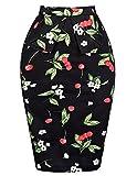 Sexy Slim Skirt Dresses Women Vintage Floral 30's (L) KL-4 CL8928