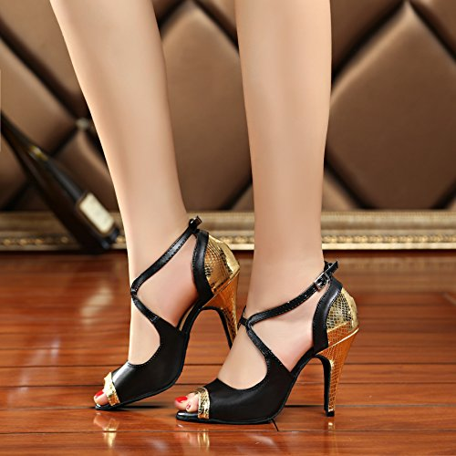Miyoopark , Salle de bal femme - or - Black/Gold-10cm heel, 39