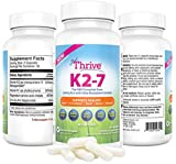 Cheap Just Thrive: Vitamin K2-7 – Bone and Heart Health Supplement – 30 Day Supply – 320mcg with Ultra Absorption – Protects Against Tooth Decay – Support Heart, Circulation, Brain, Bones, & Nerve Health