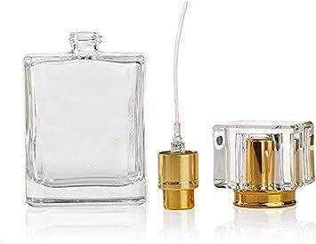 Flacone vuoto spray in vetro, 1 da 50 ml, ricaricabile, in