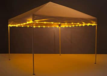 Brightz CanopyBrightz LED Tailgate Canopy and Patio Umbrella Accessory  Lighting Kit (Lights Only), Gold