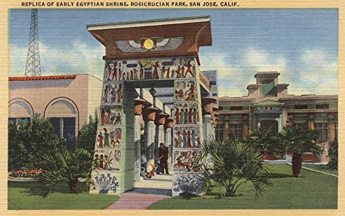 Replica of Egyptian Shrine, Rosicrucian Park (36x54 Giclee Gallery Print, Wall Decor Travel Poster)