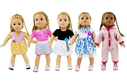 AOFUL Bitty Baby Doll Dress Clothes, Lot Fashion Pajamas Ski