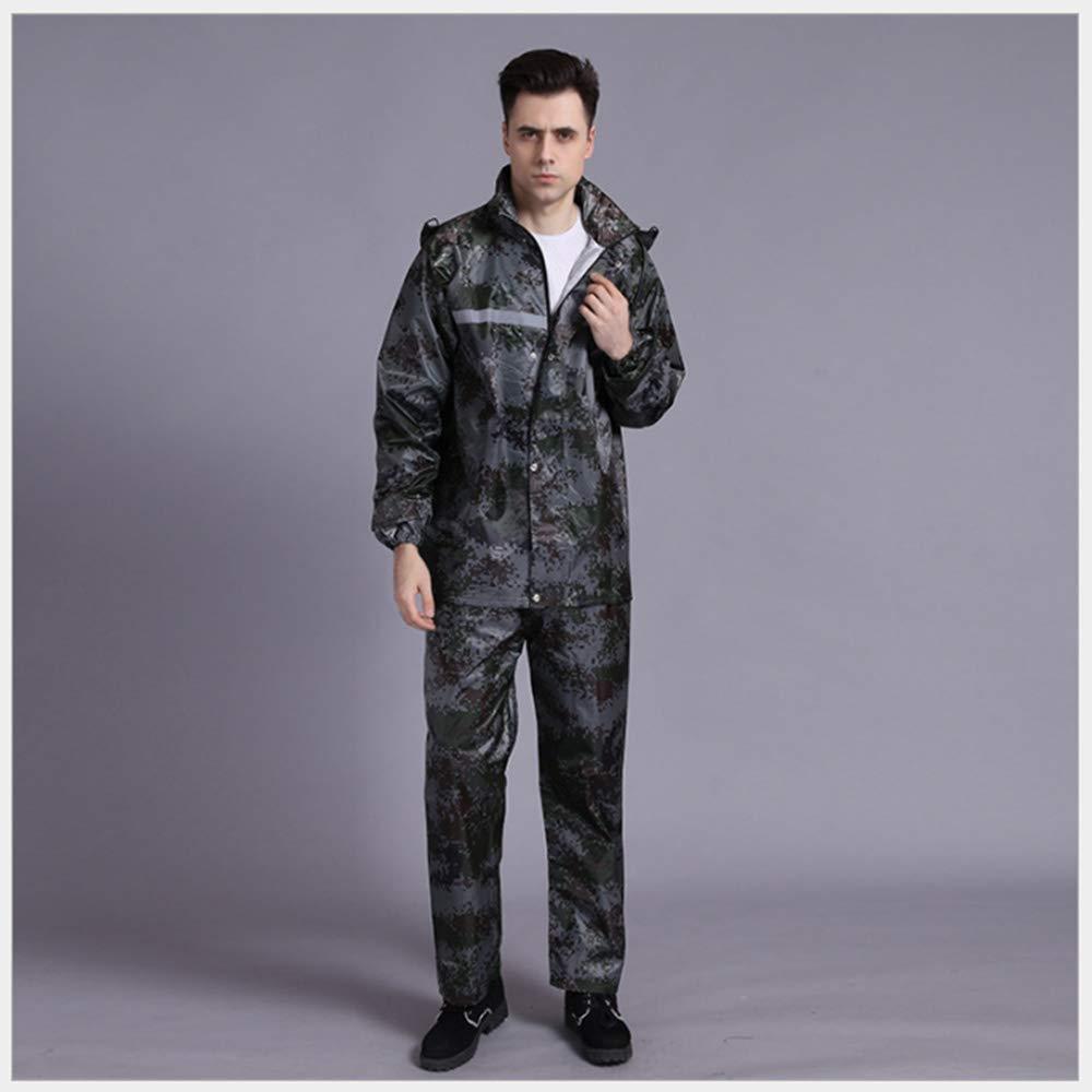 Wenanliu Camouflage numérique Réfléchissant Imperméable du Travail Assurance des Adultes Split Split Raincoat Set Voiture électrique Moto Fashion Raincoat Factory XXXL