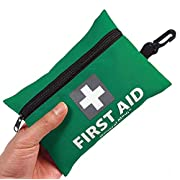 General Medi Mini First Aid Kit,92 Pieces Small First Aid Kit – Includes Emergency Foil Blanket, Scissors for Travel, Home, Office, Vehicle,Camping, Workplace & Outdoor (Green)
