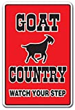"""GOAT COUNTRY Sign farm animals watch your step redneck parking   Indoor/Outdoor   12"""" Tall"""