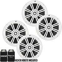 Pair Dual Kicker 41KM604W 6.5 600W 4-Ohm Km-Series Wakeboard Marine Speakers