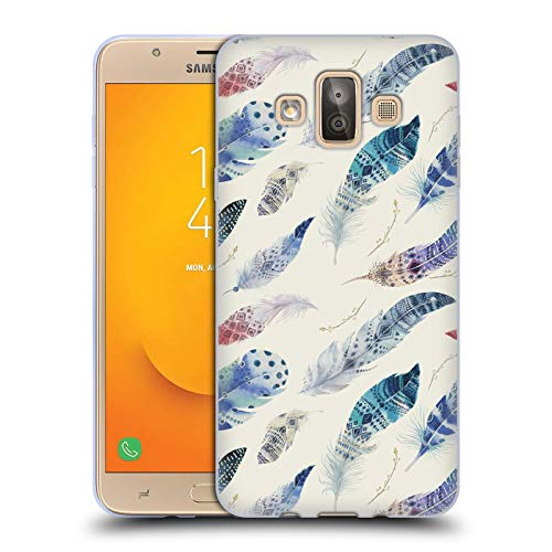 - Official Kristina Kvilis Wind Feathers Soft Gel Case for Samsung Galaxy J7 Duo (2018)