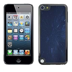 Salpicar Estrellas - Metal de aluminio y de plástico duro Caja del teléfono - Negro - Apple iPod Touch 5