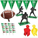 Football Game Day Decoration Party Pack - Centerpieces, Banner, Cupcake Picks, Balloon