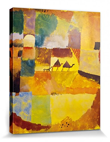 1art1 Paul Klee Stretched Canvas Print - Two Camels and A Donkey, 1919 (20 x 16 inches) from 1art1