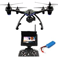 Dazhong JXD 506G Quadcopter Drone with 5.8 GHz Real-time FPV Transmission Monitor One-Key-return Headless 2.4G 4Ch 6-Axis RC Quadcopter + Extra Battery