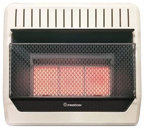 Cedar Ridge MN3PHG ProCom Ventless Natural Gas Heater Manual Control Wall Heater, 30,000 BTU - Gas Manual Vent
