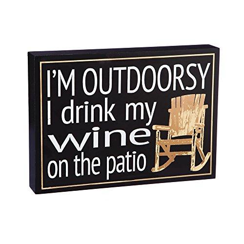 Cape Craftsmen I'm Outdoorsy Wooden Sign