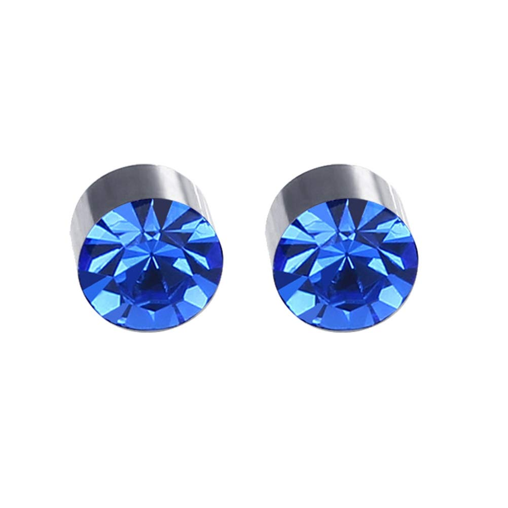 Blu Reale BESTOYARD 1pair Magnete Diamante colorato orecchino con Perno Dimagrante Perdita di Peso Anti Cellulite per Uomo Donna Salute Prodotti per Unghie Orecchio di Ferro