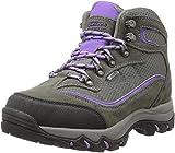 Hi-Tec Women's Skamania Mid Waterproof Hiking Boot, Grey/Viola, 6 B (M) US
