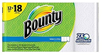 Bounty Paper Towels Select A Size Giant Rolls, 12 ct, 12 Rolls = 18 Rolls