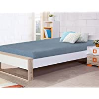 Olee Sleep 5 Inch Multi Layer Memory Foam Mattress / Bunk Bed / TrundleBed / Youth Mattress, Twin, Grey
