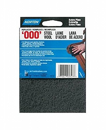 Norton 7660701727 5 Pack 5-1/2in. x 4-3/8in. 2Pc. Synthetic Steel Wool Pad, Gray ()