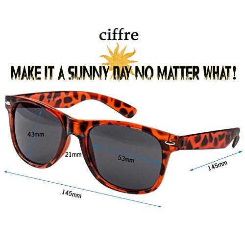 Nuevas Retro clásico sol Ciffre Gafas UV®400 Nerd Leopardo para hombre mujer Vintage de A1wqpxw4