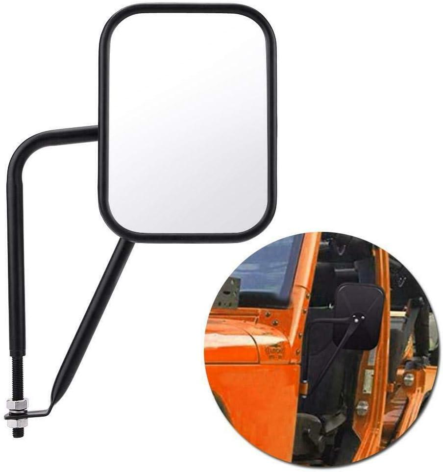 WTKSOY New Door-Less Universal Side Mirror for 1997-2017 Jeep Wrangler TJ JK JKU CJ