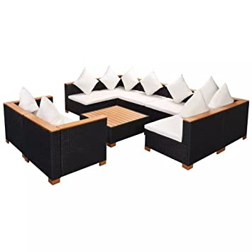 Lingjiushopping Set de Sofas Jardin 27 Piezas de Ratan PE ...