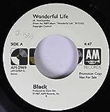 black 45 RPM wonderful life / wonderful life
