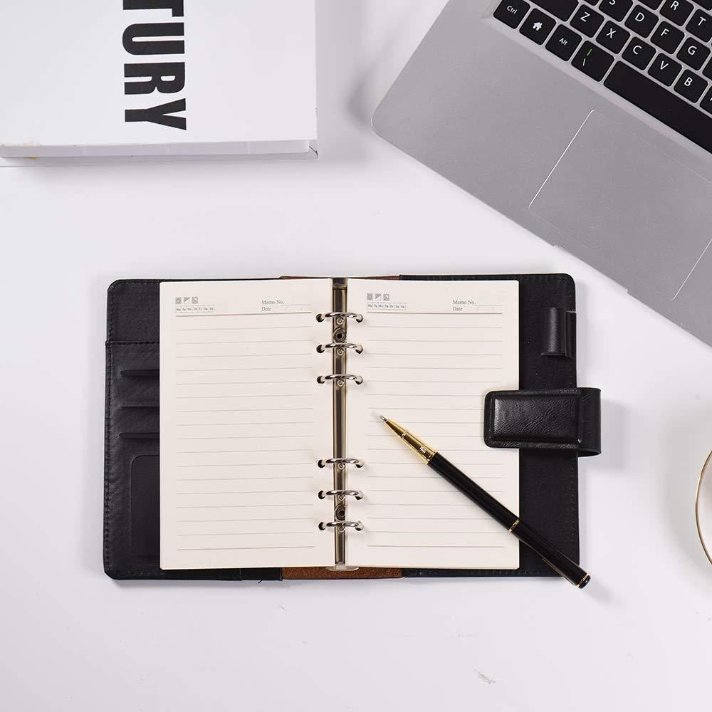 Amazon.com: Notebook A6 PU Loose-Leaf Spiral Notebook Binder ...