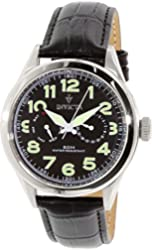 Invicta Men's 11741 Vintage Black Calf Leather Watch
