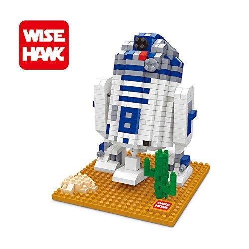 Wisehank Micro Blocks Star Wars Action Figures DIY Assembly - R2D2 Model