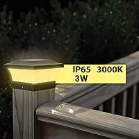 MNJM Solar Impermeable LED Post Cap Luces de la Columna del Faro del Pilar de la cerca de la Lámpara