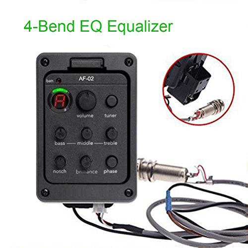 mps 4 Band EQ Equalizer 201 Beat Board Piezo Pickup Tuner w/Volume Control Ship From USA ()