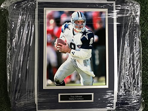 (Dallas Cowboys Texas Stadium Troy Aikman Image Photo Seat Bottom Framed COA)