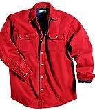 Tri-Mountain 869 Denim shirt jacket with fleece lining - Red / Navy - XL