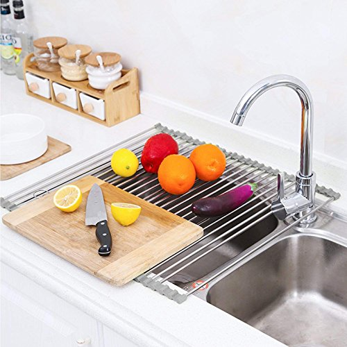 "Roll up Dish Drying Rack-17.9""  x 15.8""  -over the Sink Dish"