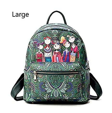 0c883f571d Image Unavailable. Image not available for. Color  Brand Backpack Women  Backpacks Fashion Small School Bags for Girls Black Scrub PU Leather Female  Sac
