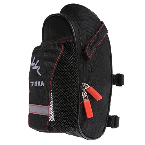 Alloet Bike Seat Pack Bicycle Water Bottle Pocket Cycling Bike Rear Tail Seat Bag