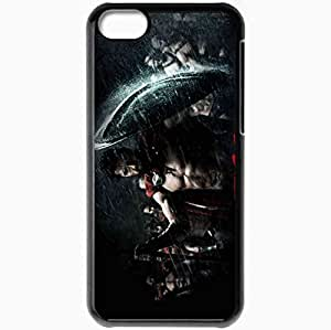 Personalized iPhone 5C Cell phone Case/Cover Skin 300 gerard butler king leonidas king of sparta Movies Black