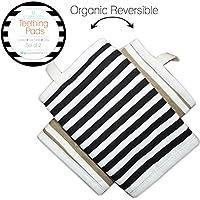 Kaydee Baby Organic Cotton Reversible Teething, Drool & Dribble, Chew Pads w/...